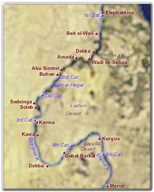 Map Of Wawat And Kush - Map of egypt kush