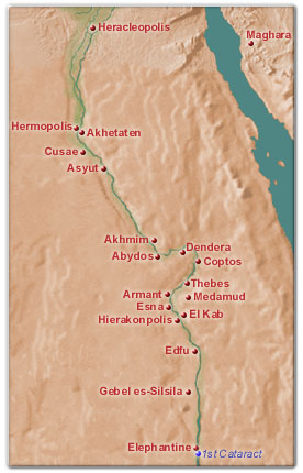Map Of Upper Egypt - Map of egypt only